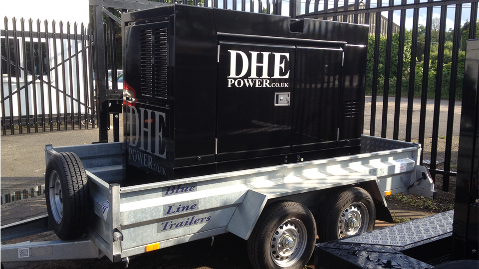 Buckinghamshire Stage Hire 60KVA Ultra Silent Road Towable Diesel Generator